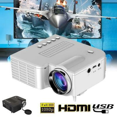 1080P Full HD LED Mini Portable Projector Home Theater Cinema AV VGA SD USB HDMI