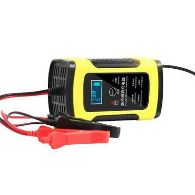 12V 6A Pulse Repair Charger For Car Motorcycle Lead Acid Battery LCD AGM GEL WET