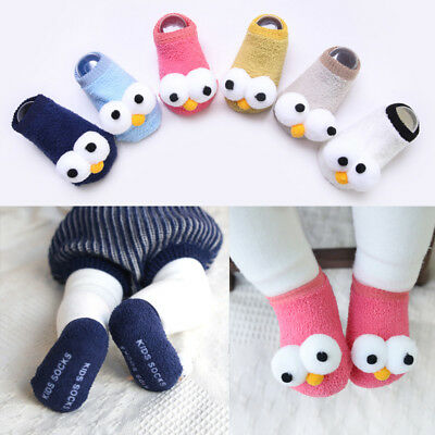 0-18M Toddler Non-Slip Boot Socks Kids Baby Cartoon Warm Shoes Anti-slip Slipper