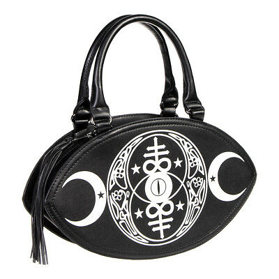 Banned Apparel New Moon Gothic Black Occult Gothic Womens Leather Style Handbag