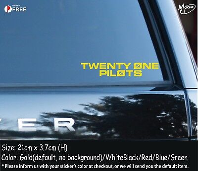 TWENTY ONE PILOTS Stickers Reflective Car Decals Stickers Rock Band Best GiftsWY