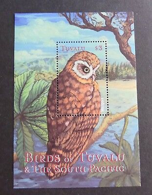 Tuvalu 2000 South Pacific Birds owl MS CTO used from MS951