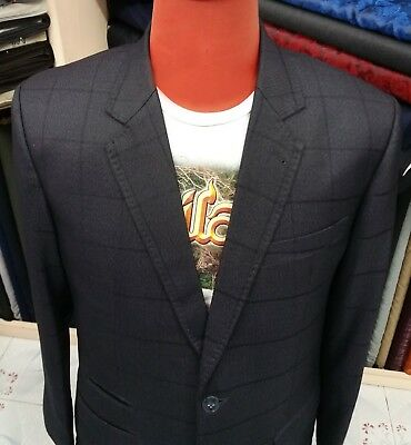 Windowpane Suit Box Check Cashmere Wool 34R 36R 38R 40R 42R 44R 46R 48R any  size 75ff71bfc