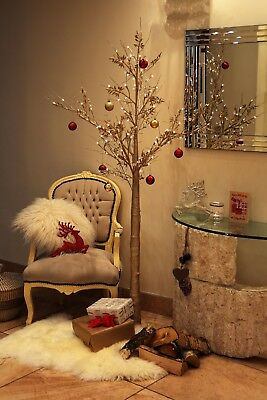 Jaymark Products Champagne Gold Christmas Pre-Lit LED Twig Tree