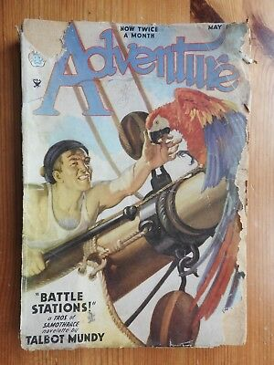 Adventure US pulp magazine - 1st May 1935 (Vol 92 No 1)