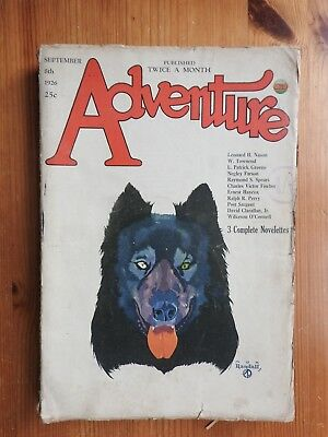 Adventure US pulp magazine - 8th Sept 1926 (Vol LIX No 5)