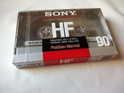 CASSETTE TAPE BLANK SEALED - 1x (one) SONY HF 90 [1988] made in France