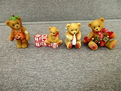 Enesco-P Hilman-Bear-Figures-1993-2000-Joy-Billy-Cherished Teddy-Adelaide Lot C4