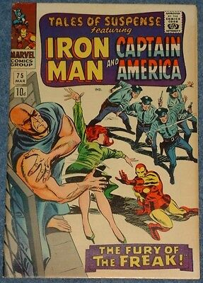 TALES OF SUSPENSE # 75 (1966) - Iron Man! Captain America! 1st Sharon Carter!