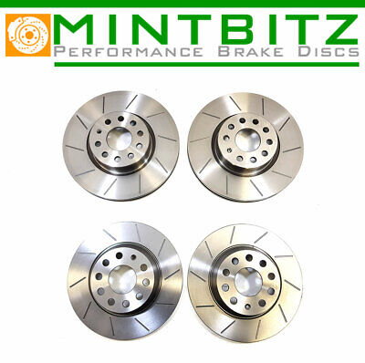 BMW 3 Series E90 330d 330i 05-12 Grooved Front & Rear Brake Discs 348mm