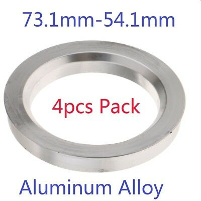 4pcs/ Set Spigot Rings 73.1mm to 54.1mm Wheel Spacers Hub Centric Alloy