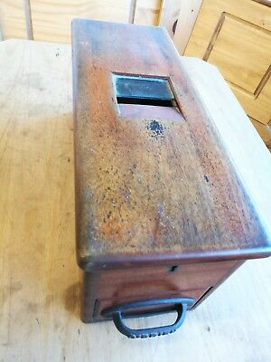 Antique Vintage Original Wooden Shop Till / Cash Register, O'Briens Liverpool