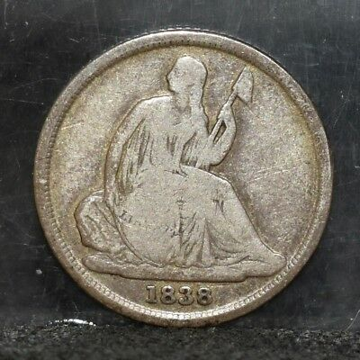 1838-O Liberty Seated Dime - VG (#17627)
