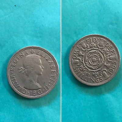 1963 Great Britain Two Shillings Coin