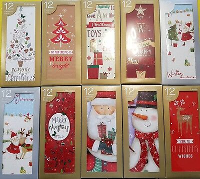 12 Boxed Christmas Cards Portrait 5 Designs To Choose From Christmas Decorations