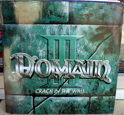 """Domain """"Crack In The Wall"""" RARE 1991 Hard Rock LP Germany"""