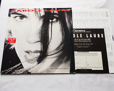CAROLE LAURE SHE says move on FRANCE only LP+Inner FNAC MUSIC (1991 ... ef7b57200d7