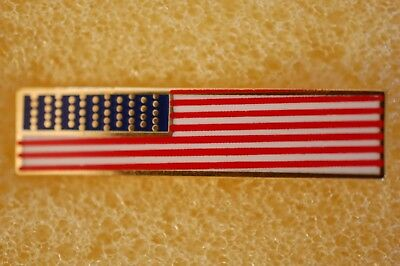 US USA Rectangle American Flag Patriotic Hat Lapel Pin