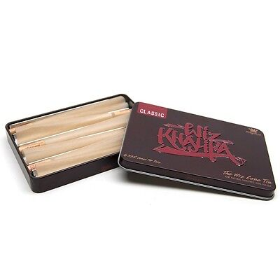 RAW Rolling Papers and Wiz Khalifa CONE Storage TIN - 6 FREE King Size Cones