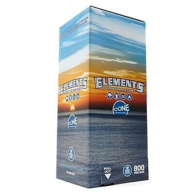 800 Pack - Elements Rice Cones 1 1/4 Authentic Pre-Rolled Cones w/ Filter