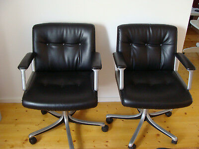 2 Office Chairs BORSANI für TECNO P128 (Modus) Chair 1972 - Bürostuhl Panton Era