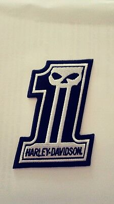 Harley Davidson patch, Willie G Patch, HOG, Dyna, Street Gide HD 1 with skull