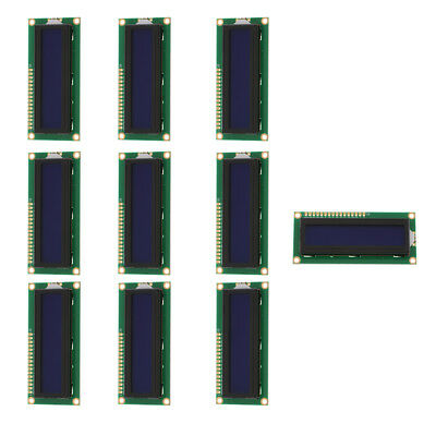 10Pcs LCD Blue Display Screen Controller Module 16x2 Dots for Arduino 5V