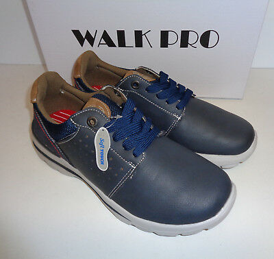 Mens Memory Foam Trainers Walk Pro Navy Lace Up New Shoes UK Size 11