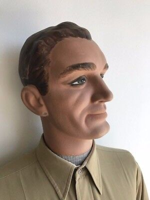 VINTAGE ART DECO MANNEQUIN LIFE SIZE MALE ANTIQUE 30's 40's ORIGINAL