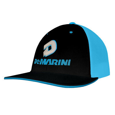 more photos 9d535 a5daf DeMarini Stacked D Baseball Softball Trucker Hat - Black Neon Blue - Large