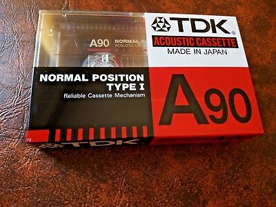 CASSETTE TAPE BLANK SEALED - 1x (one) TDK A90 [1988] (made in Japan)