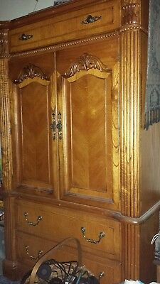 Ornate Wooden Armoire. Excellent Condition.
