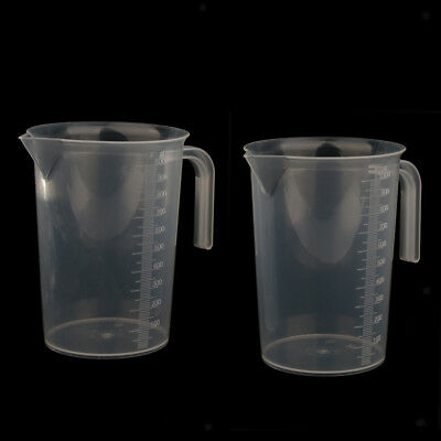 2 Pcs Plastic Measuring Cup Jug 1000ml with Pour Spout, Smooth Thick Wall
