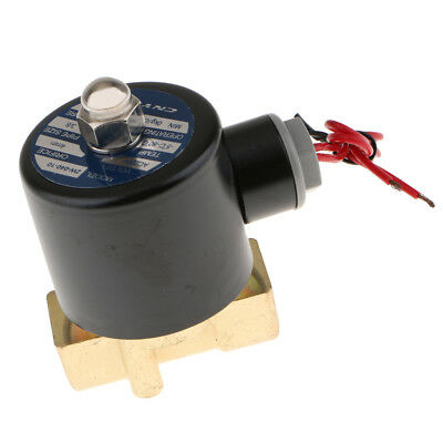 """1/4"""" 12V DC Brass Electric Solenoid Valve NPT Gas Water Air Normally Closed"""