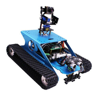 RASPBERRY PI ROBOT Car Tank Chassis Kit w/ HD Camera Android APP Control