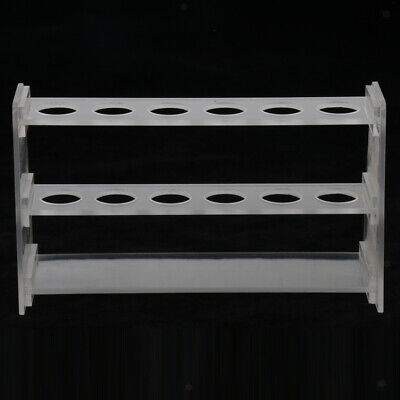 Plastic Test Tube Rack Stand for Lab Glasses Tube Display 12,24,28,32 Holes
