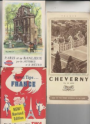 Circa 1958-1962 12 Travel Related Booklets/brochures - Many France