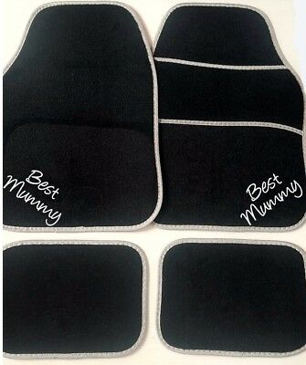 PERSONALISED Universal Fit Car Mats EMBROIDERED Brother gift Daughters first car
