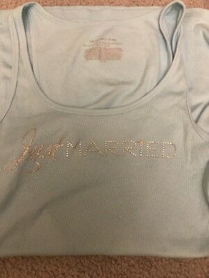 Just Married Victorias Secret Tank Top L