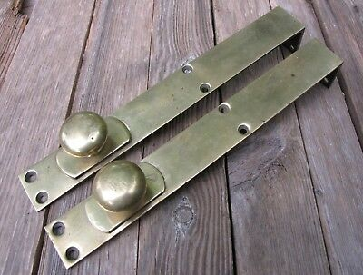 Antique Pair of Large Brass and Iron Door Bolts / Double Doors by WT&S
