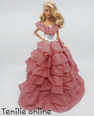 New Barbie clothes outfit princess wedding dress gown purple lace and shoes x1