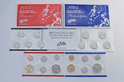 2005 Uncirculated US Mint Set P&D 22 coins unopened U05 NIB Free Ship