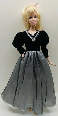 New Barbie doll clothes outfit princess wedding gown dress blue heart lace