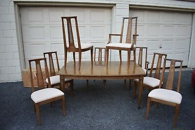 BIG VTG MCM Henredon dining set 50's 60's danish mod contemporary table chairs