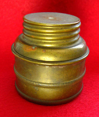 Antique Carbibe Mining Lamp Brass Storage Holder - Old Miner's Lamps Parts