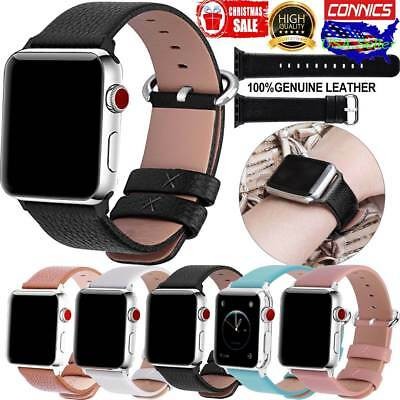 for Apple Watch Band 42mm 44mm 40mm 38mm Genuine Leather IWatch Band Wrist Strap