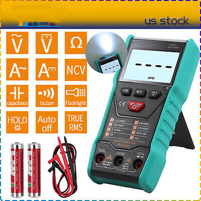 NCV 2000 Counts Digital Multimeter True RMS Auto Range AC/DC Voltage hFE Test