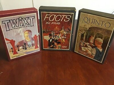 3M Bookshelf Board Games Lot Of 3 Quinto Twist Facts In Five Strategy Trivia