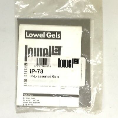 5-pack of Lowel IP-L Assorted Gels 3x Day Blue, Frost, ND3 Neutral Density IP-78
