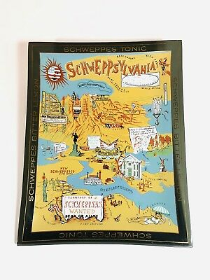 Schweppes Tonic Advertising Glass Tray
